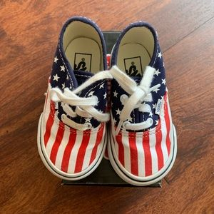 Babies red white and blue vans